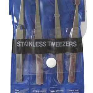 ProEdge 4pc Tweezer Set