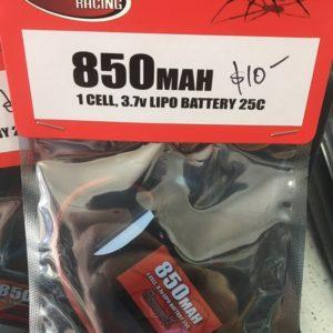 Redback 1S 3.7v 850MaH Lipo
